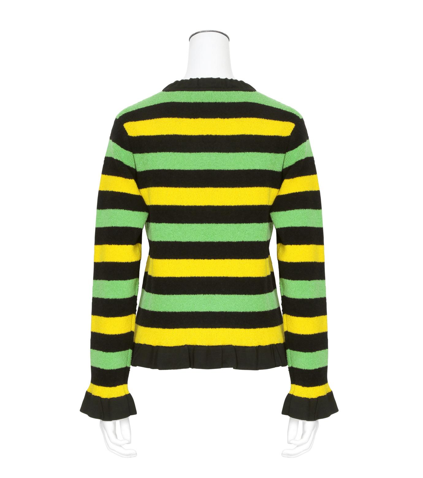 J.W.Anderson(ジェイダブリュー アンダーソン)のStriped Boucle Sweater-GREEN(ニット/knit)-KW11-22 拡大詳細画像2