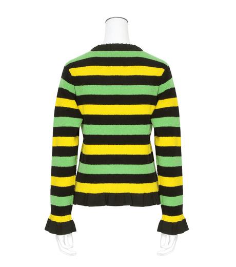 J.W.Anderson(ジェイダブリュー アンダーソン)のStriped Boucle Sweater-GREEN(ニット/knit)-KW11-22 詳細画像2