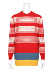 J.W.Anderson Stripe Layered Wool Jumper