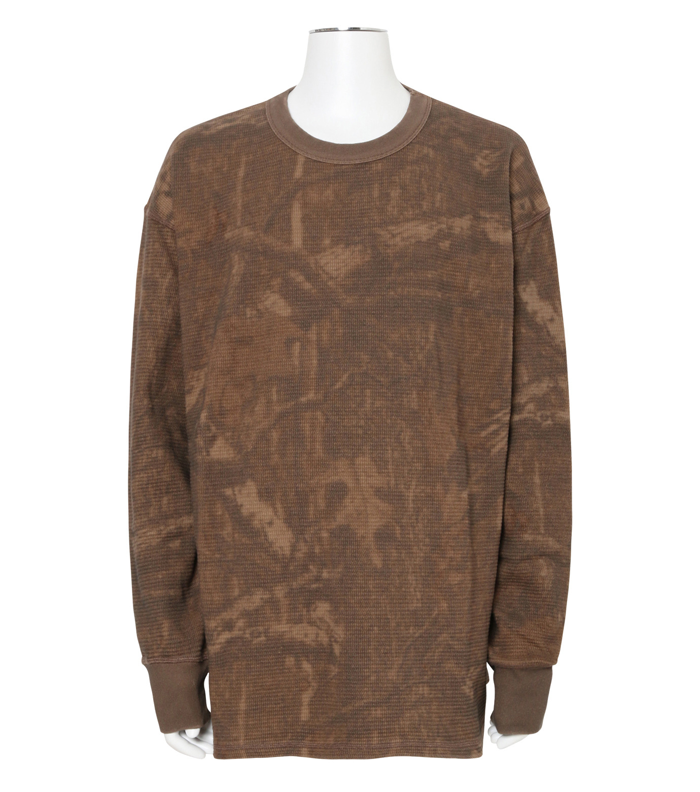 YEEZY(イージー)のTHERMAL LONG SLEEVE-KHAKI(カットソー/cut and sewn)-KW3M103-117-24 拡大詳細画像1
