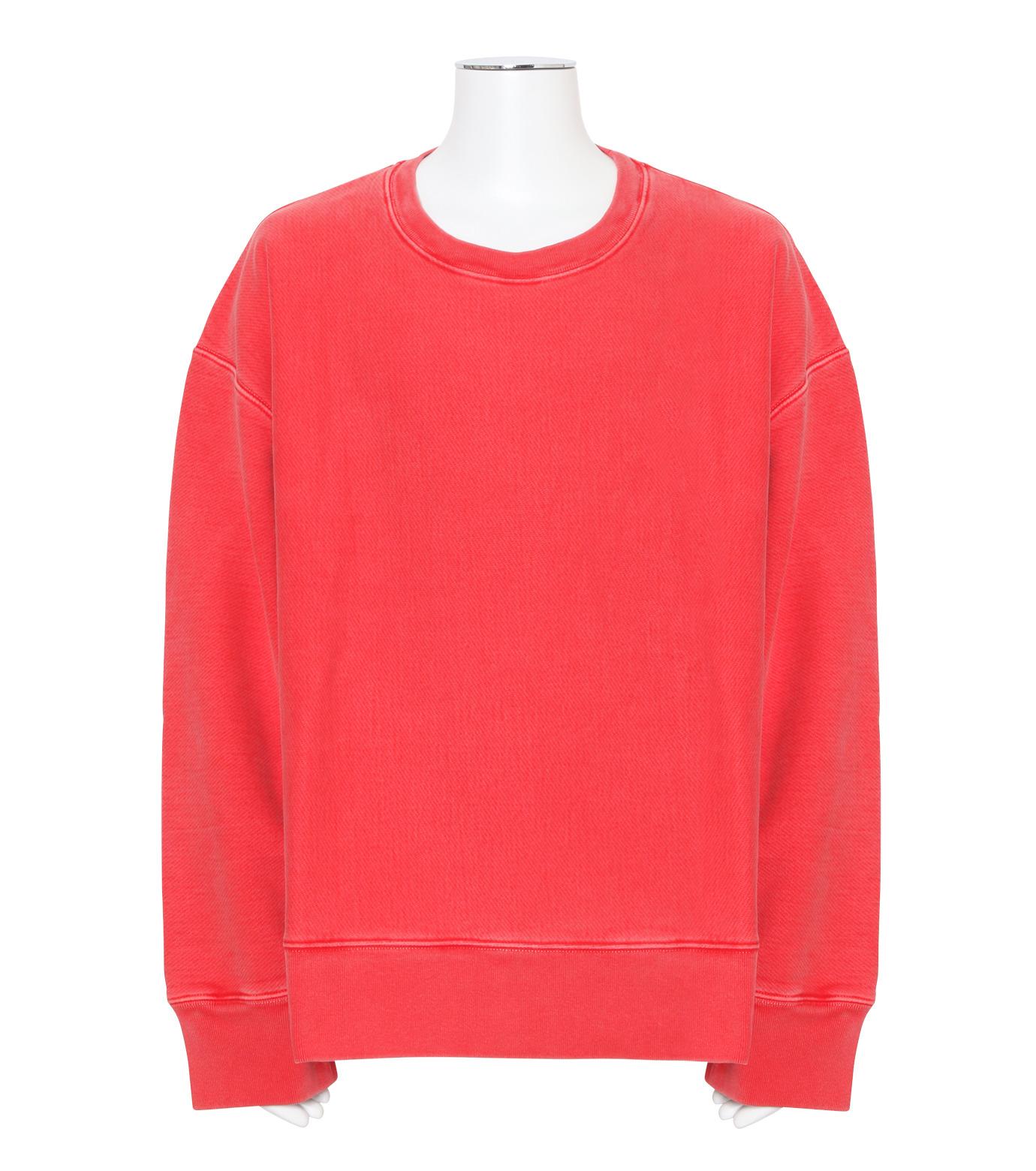 YEEZY(イージー)のCREWNECK SWEATSHIRT-RED(カットソー/cut and sewn)-KW3M209-107-62 拡大詳細画像1