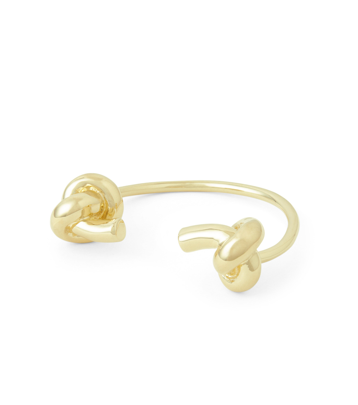 Jennifer Fisher(ジェニファーフィッシャー)のLarge Double Knot Cuff-GOLD-Knot-Cuff-L-2 拡大詳細画像1
