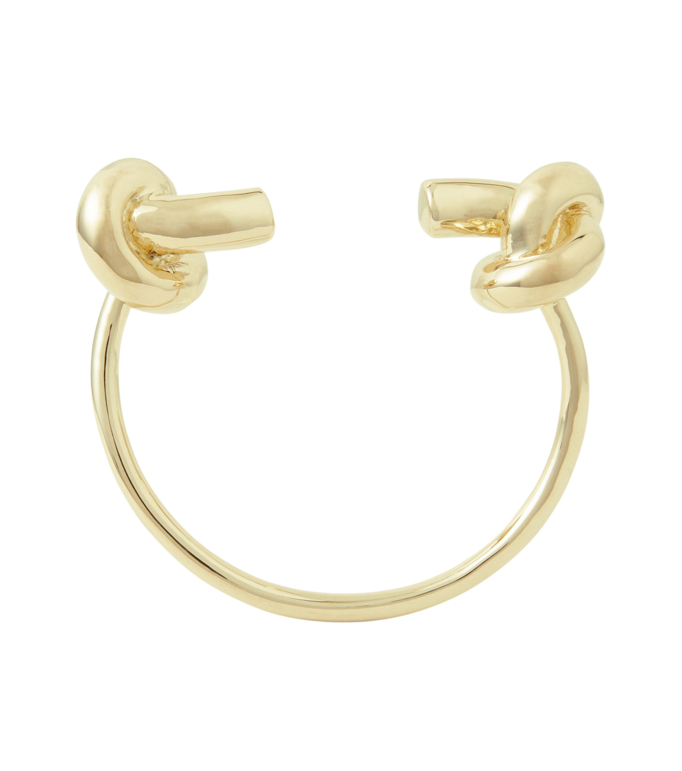 Jennifer Fisher(ジェニファーフィッシャー)のLarge Double Knot Cuff-GOLD-Knot-Cuff-L-2 拡大詳細画像2
