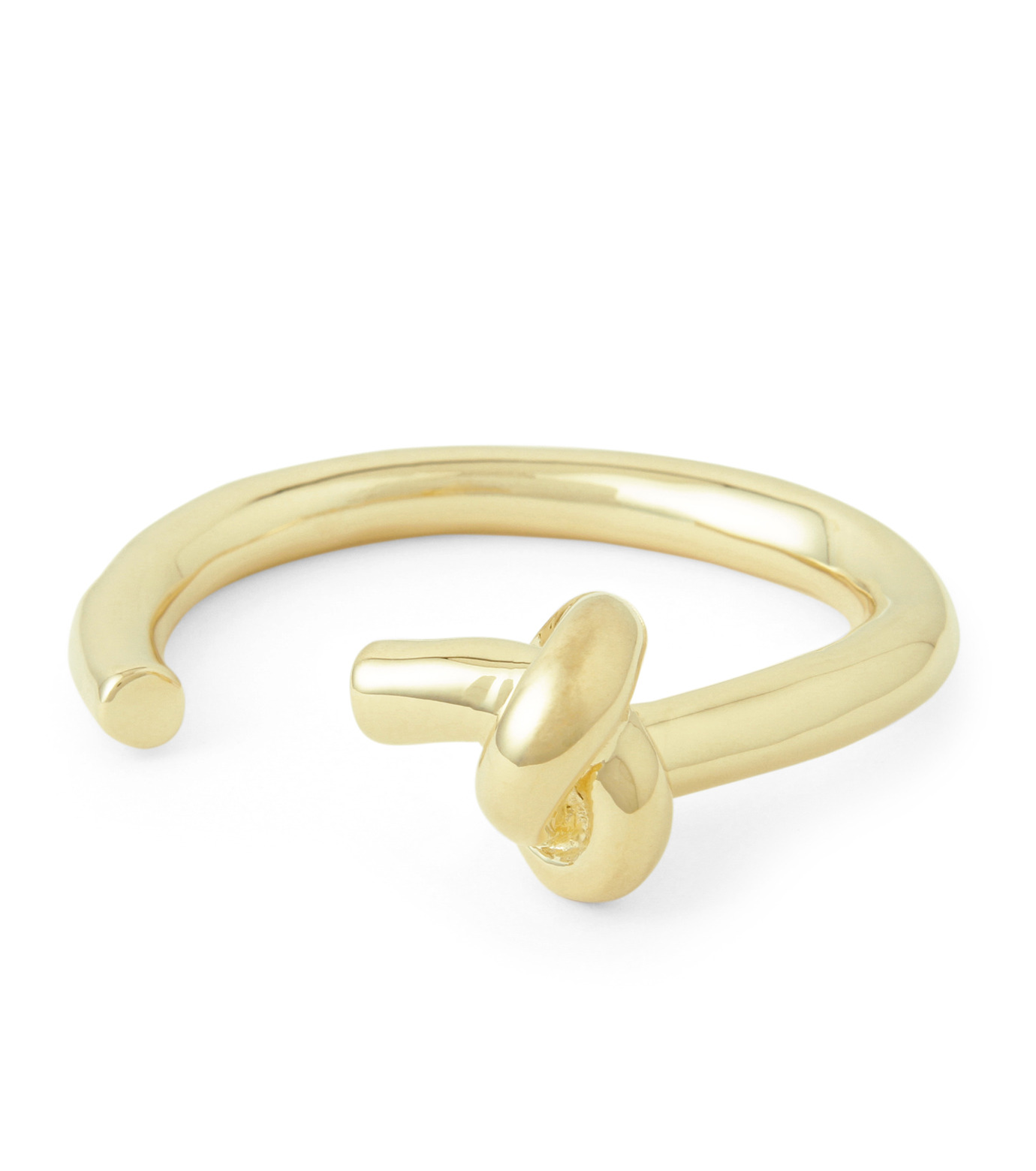 Jennifer Fisher(ジェニファーフィッシャー)のLarge Single Knot Cuff-GOLD-Knot-Cuff-S-2 拡大詳細画像1