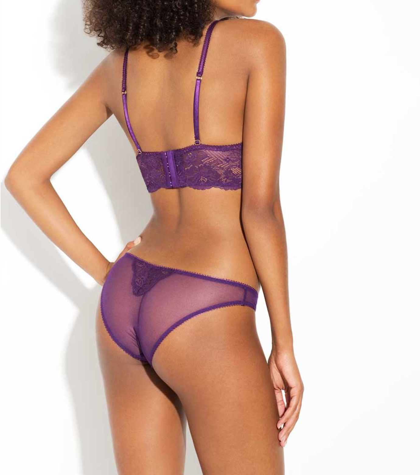 L'Agent by Agent Provocateur(ラジャン バイ エージェント プロヴォケイター)のMIA Non Pad Demi-PURPLE(LINGERIE/LINGERIE)-L137-18-82 拡大詳細画像3