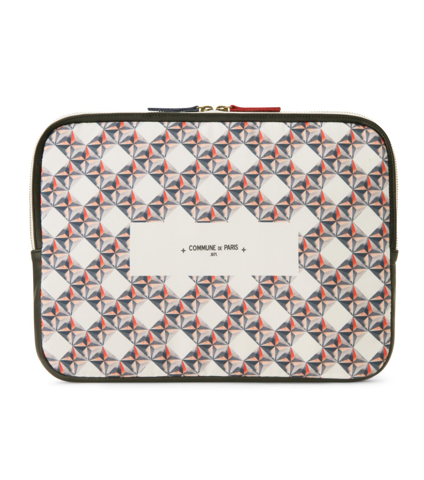 Commune de Paris(コミューン ドゥ パリ)のLaptop case etoiles-WHITE(ケース/cases)-LAPTOP-CASE2-4 拡大詳細画像1