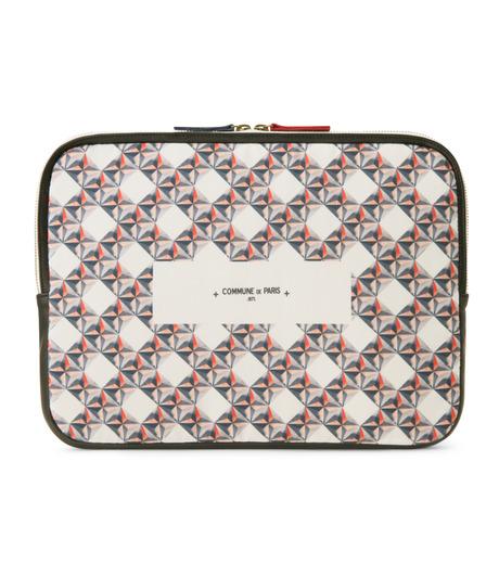 Commune de Paris(コミューン ドゥ パリ)のLaptop case etoiles-WHITE(ケース/cases)-LAPTOP-CASE2-4 詳細画像1
