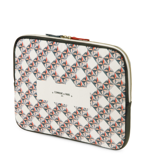 Commune de Paris(コミューン ドゥ パリ)のLaptop case etoiles-WHITE(ケース/cases)-LAPTOP-CASE2-4 詳細画像2