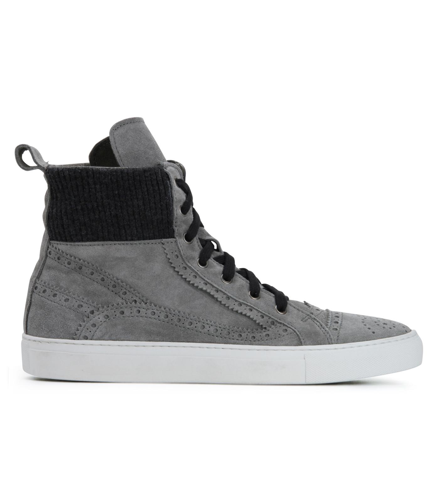 Les Homme(レゾム)のKnit Sneaker-LIGHT GRAY-LH1212-1107 拡大詳細画像1