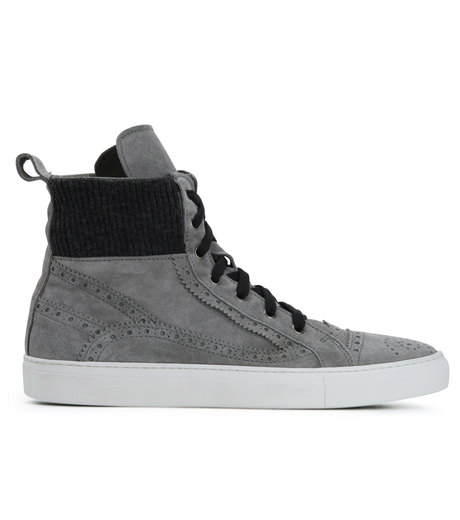 Les Homme(レゾム)のKnit Sneaker-LIGHT GRAY-LH1212-1107 詳細画像1
