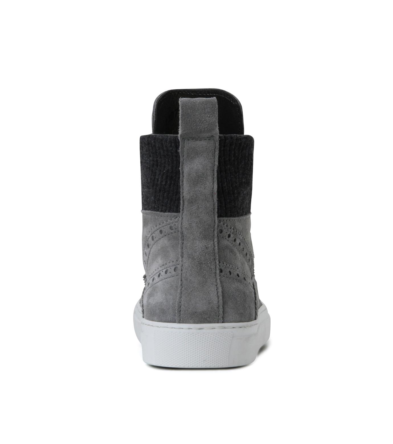 Les Homme(レゾム)のKnit Sneaker-LIGHT GRAY-LH1212-1107 拡大詳細画像2