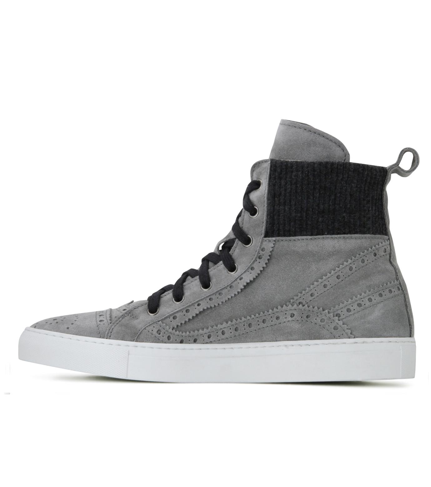 Les Homme(レゾム)のKnit Sneaker-LIGHT GRAY-LH1212-1107 拡大詳細画像3