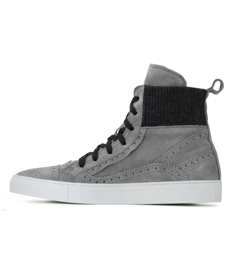 Les Homme(レゾム)のKnit Sneaker-LIGHT GRAY-LH1212-1107 詳細画像3