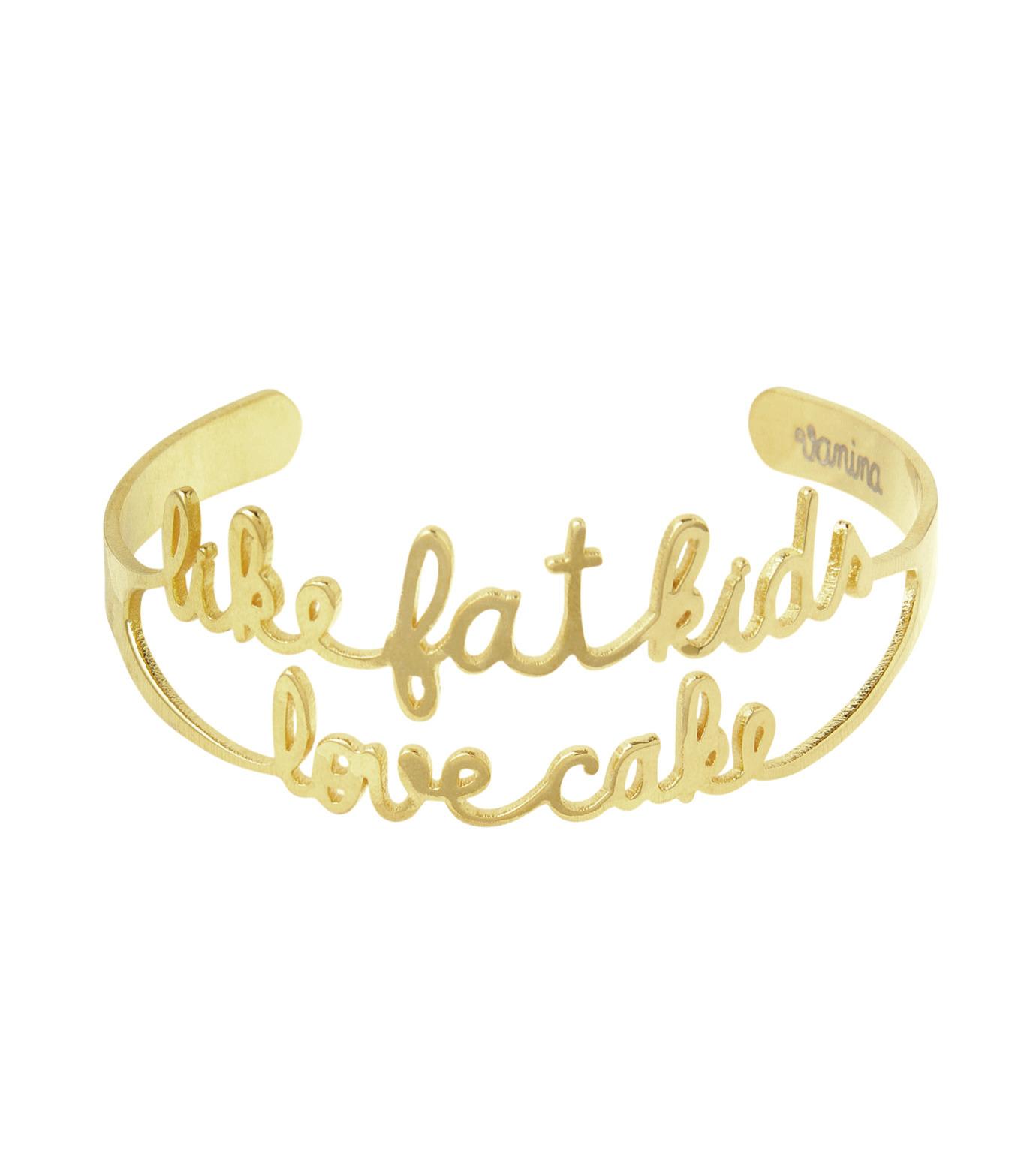 VANINA(バニーナ)のLike Fat Kids Love Cake Bracelet-GOLD(アクセサリー/accessory)-LIKE-Kids-L 拡大詳細画像1