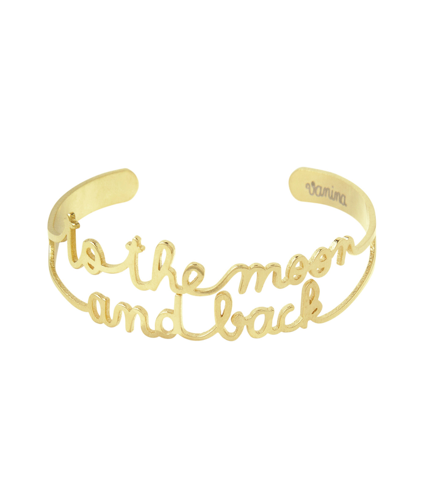 VANINA(バニーナ)のTo the Moon and Back Bracelet-GOLD(アクセサリー/accessory)-LIKE-Moon-L 拡大詳細画像1
