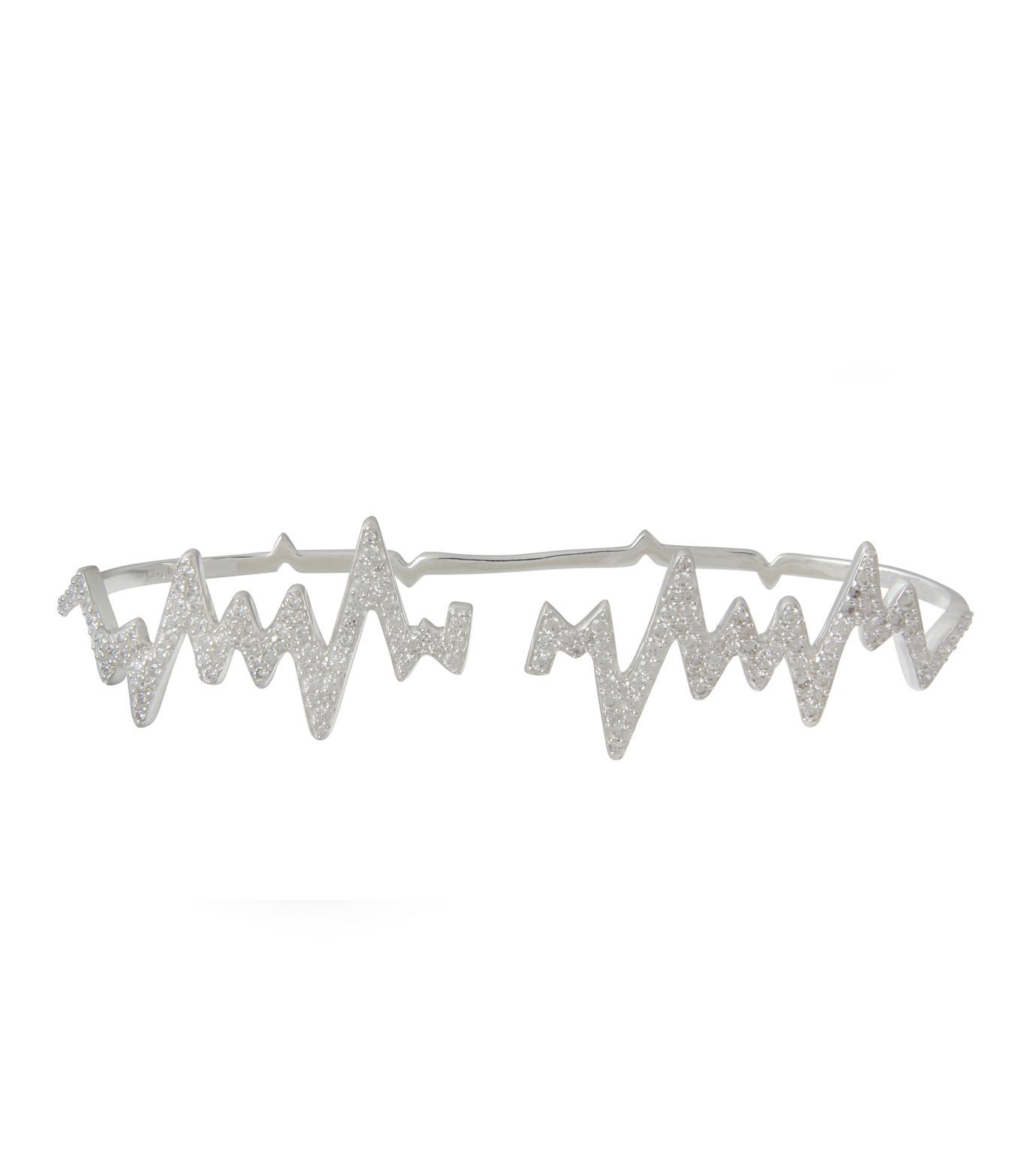 Priyanka(プリヤンカ)のLifeline Handcaff-SILVER(ブレスレット/bracelet)-LLA-01-1 拡大詳細画像1