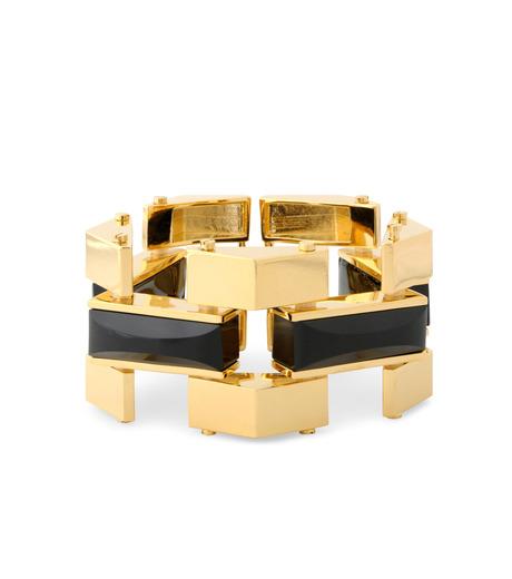 Lele Sadoughi(レレ・サドイ)のSandbar Bracelet-BLACK(ブレスレット/bracelet)-LS0311JT-13 詳細画像1