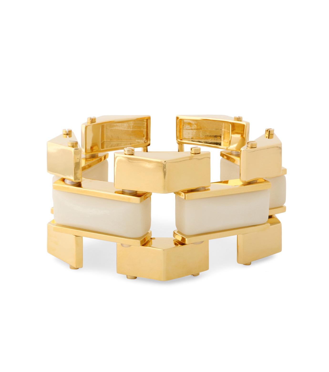 Lele Sadoughi(レレ・サドイ)のSandbar Bracelet-WHITE(ブレスレット/bracelet)-LS0311SD-5 拡大詳細画像1