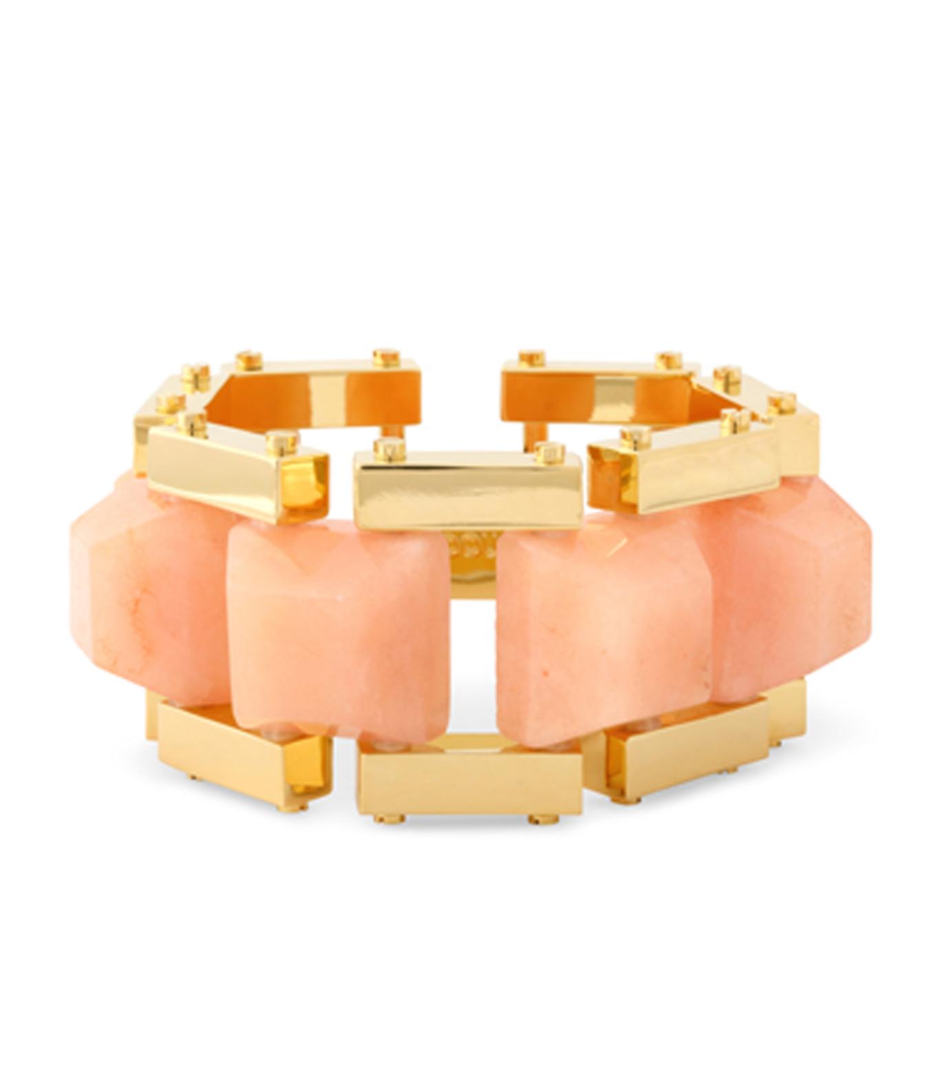 Lele Sadoughi(レレ・サドイ)のLattice Bracelet Cubic Stone-LIGHT PINK(ブレスレット/bracelet)-LS0350HB-71 拡大詳細画像1