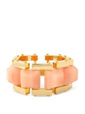 Lele Sadoughi(レレ・サドイ) Lattice Bracelet Cubic Stone