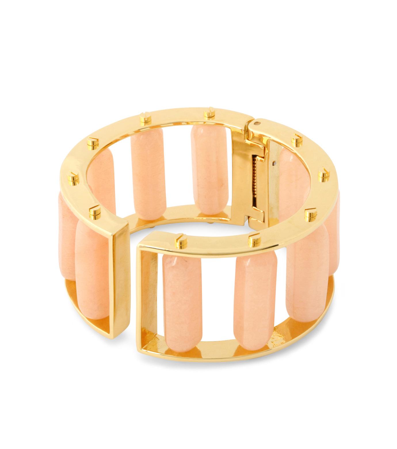 Lele Sadoughi(レレ・サドイ)のTall Hinged Slider-LIGHT PINK(ブレスレット/bracelet)-LS0363HB-71 拡大詳細画像2