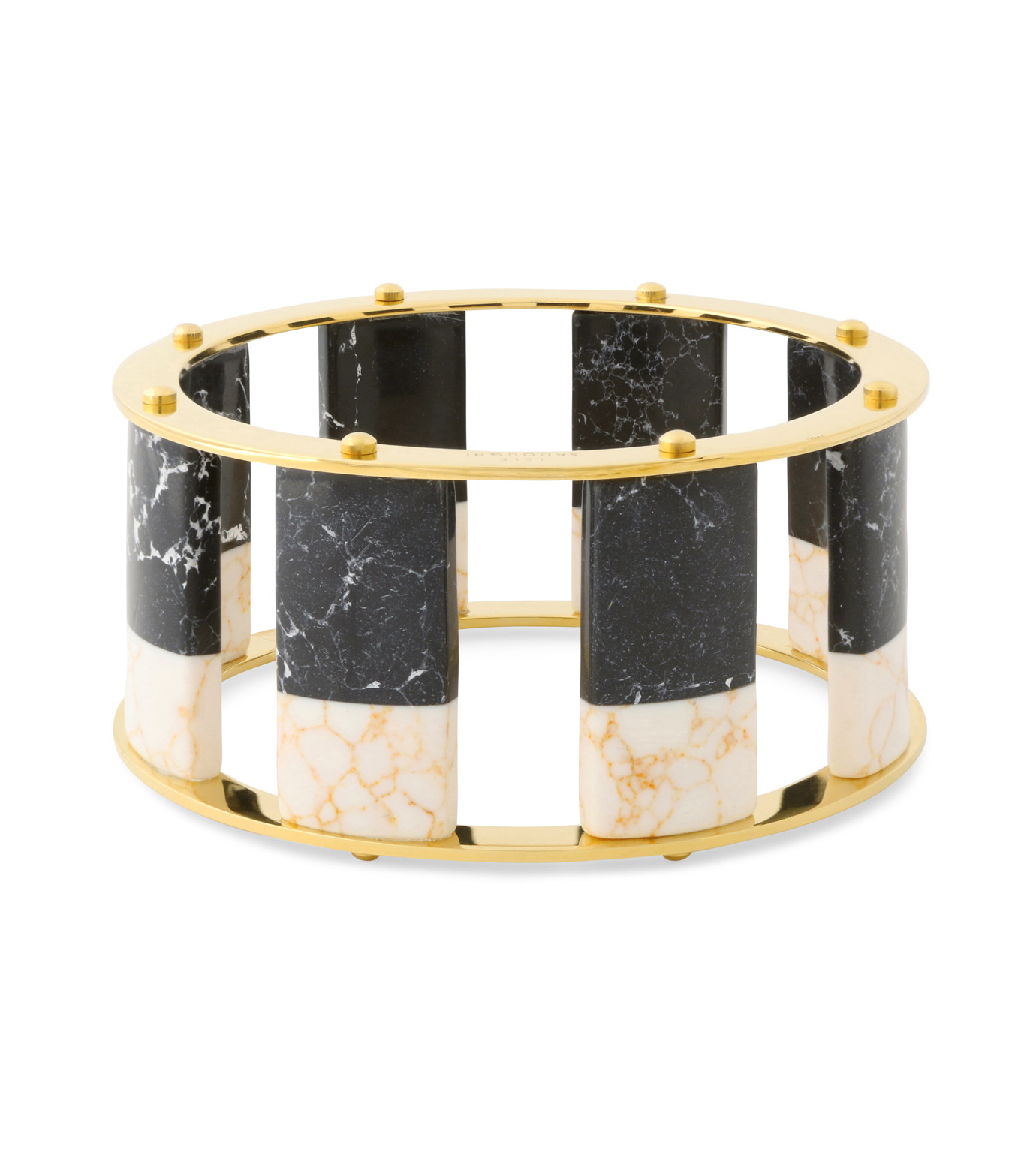 Lele Sadoughi(レレ・サドイ)のTall Stackable Bangle-BLACK(ブレスレット/bracelet)-LSD0085BW-13 拡大詳細画像1