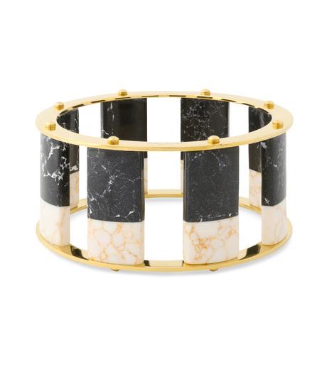 Lele Sadoughi(レレ・サドイ)のTall Stackable Bangle-BLACK(ブレスレット/bracelet)-LSD0085BW-13 詳細画像1