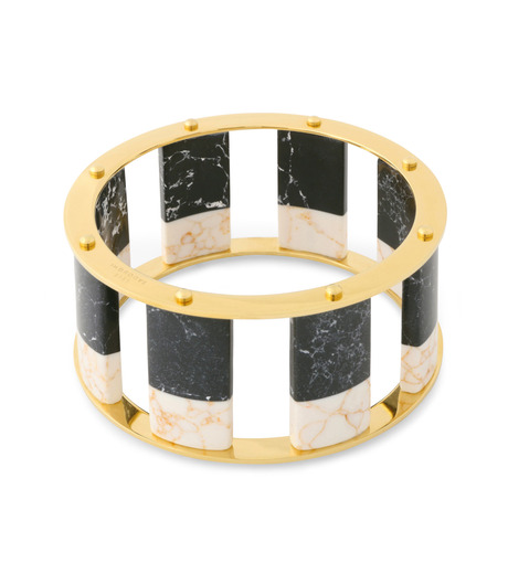 Lele Sadoughi(レレ・サドイ)のTall Stackable Bangle-BLACK(ブレスレット/bracelet)-LSD0085BW-13 詳細画像2