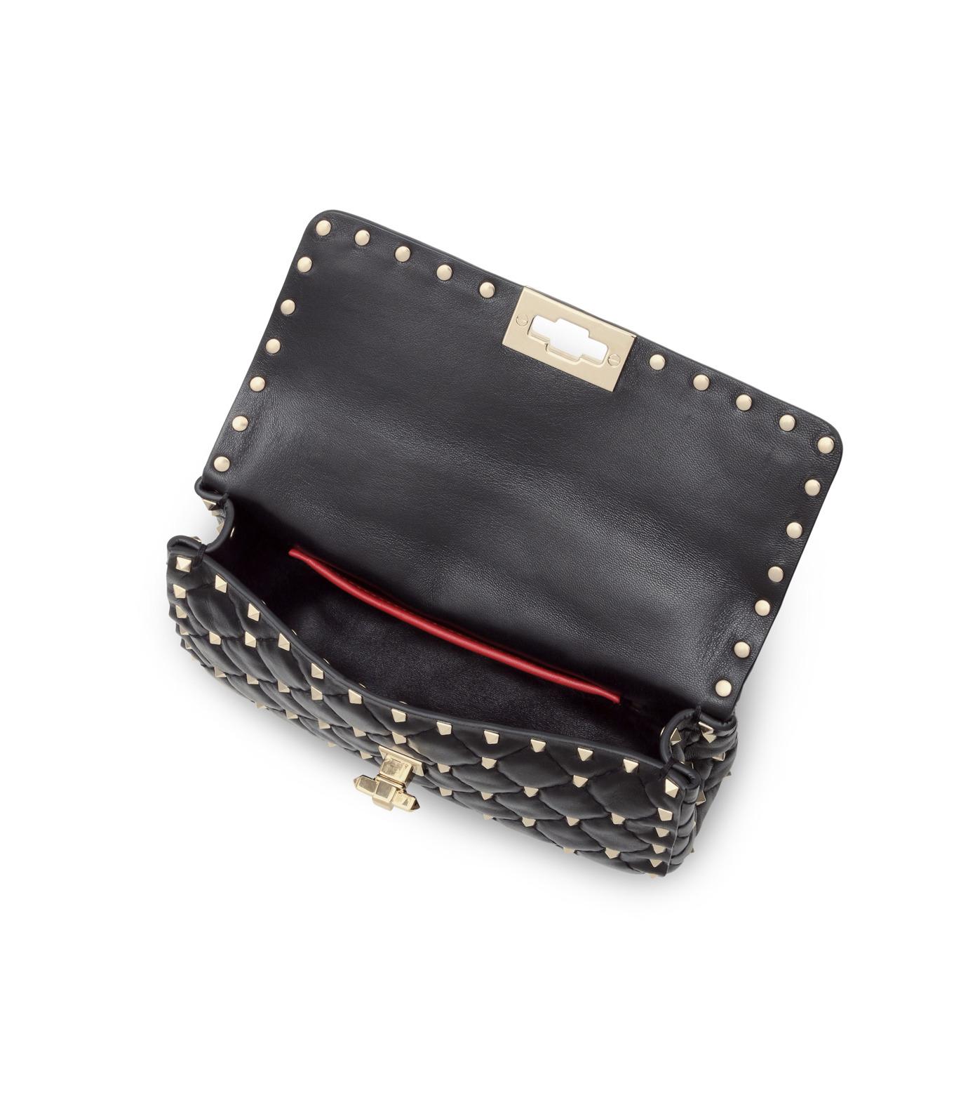 VALENTINO GARAVANI(ヴァレンティノ ガラヴァーニ)のRockstud Matelasse Small-BLACK(ショルダーバッグ/shoulder bag)-LW0B0123NAP-13 拡大詳細画像4