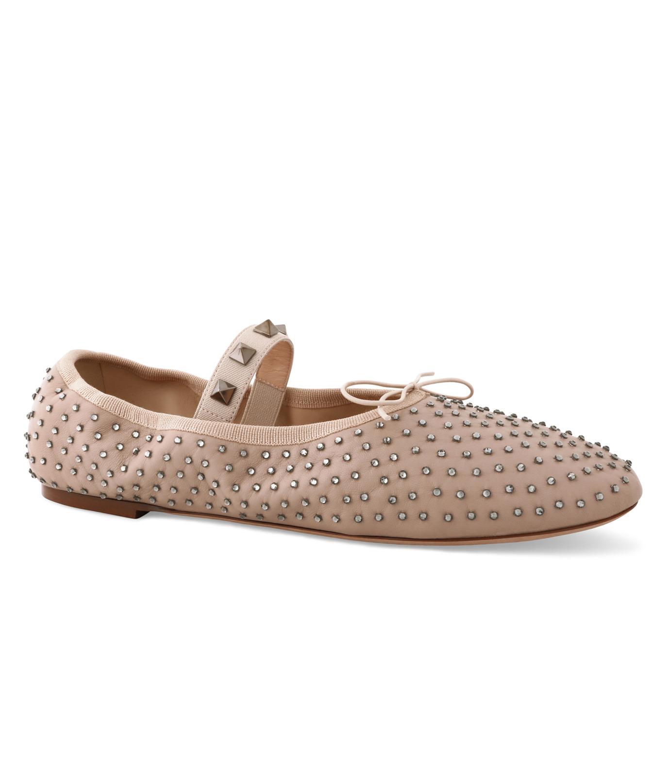 VALENTINO GARAVANI(ヴァレンティノ ガラヴァーニ)のBallerina Flat Strass-BEIGE(フラットシューズ/Flat shoes)-LW0S0A93FNR-52 拡大詳細画像1