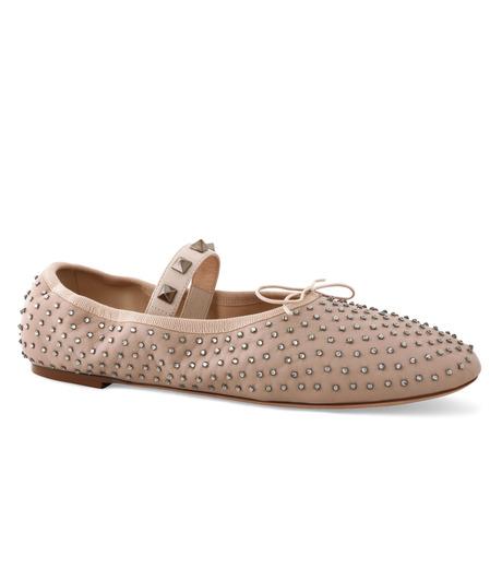 VALENTINO GARAVANI(ヴァレンティノ ガラヴァーニ)のBallerina Flat Strass-BEIGE(フラットシューズ/Flat shoes)-LW0S0A93FNR-52 詳細画像1
