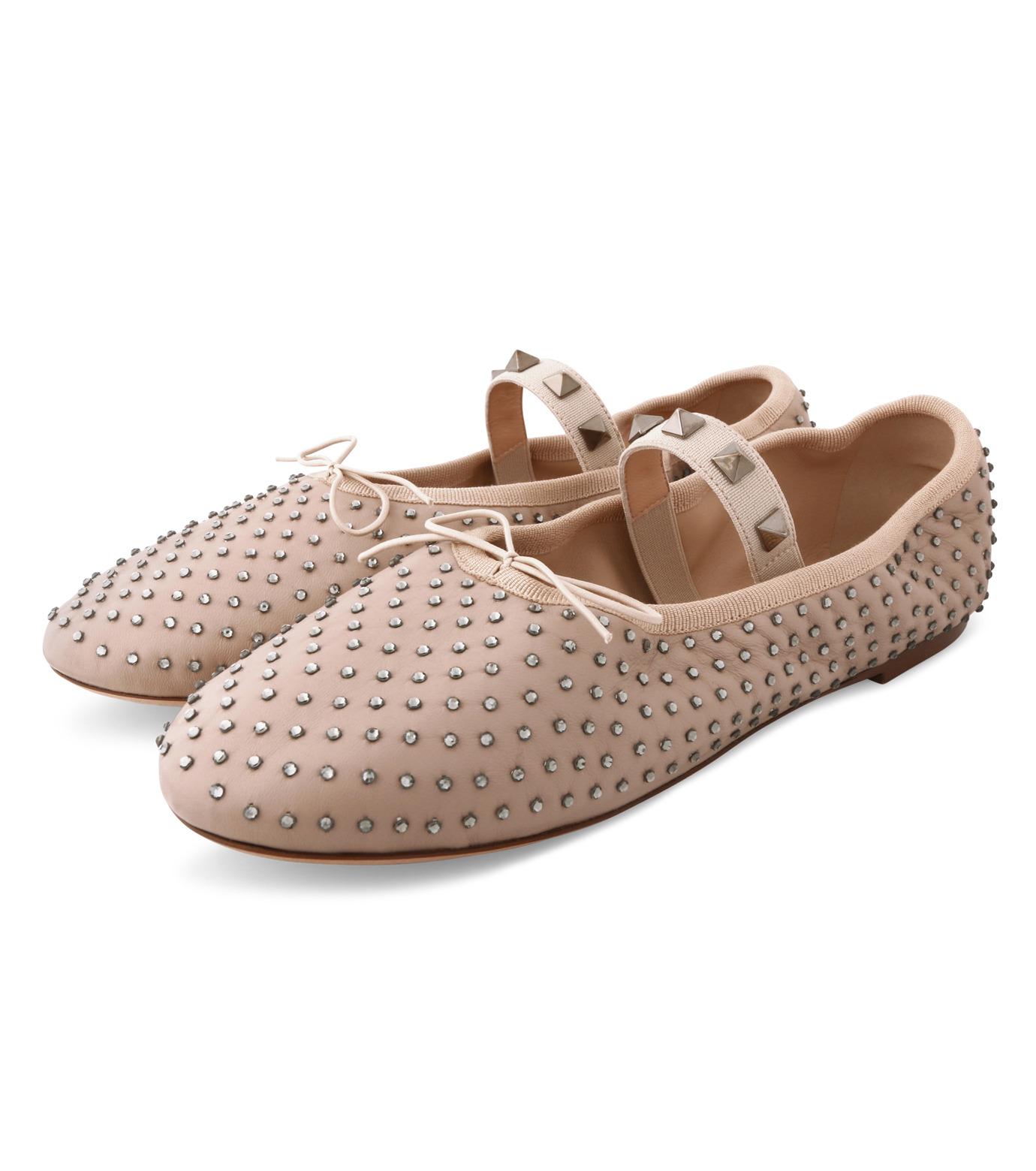 VALENTINO GARAVANI(ヴァレンティノ ガラヴァーニ)のBallerina Flat Strass-BEIGE(フラットシューズ/Flat shoes)-LW0S0A93FNR-52 拡大詳細画像3