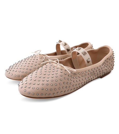 VALENTINO GARAVANI(ヴァレンティノ ガラヴァーニ)のBallerina Flat Strass-BEIGE(フラットシューズ/Flat shoes)-LW0S0A93FNR-52 詳細画像3