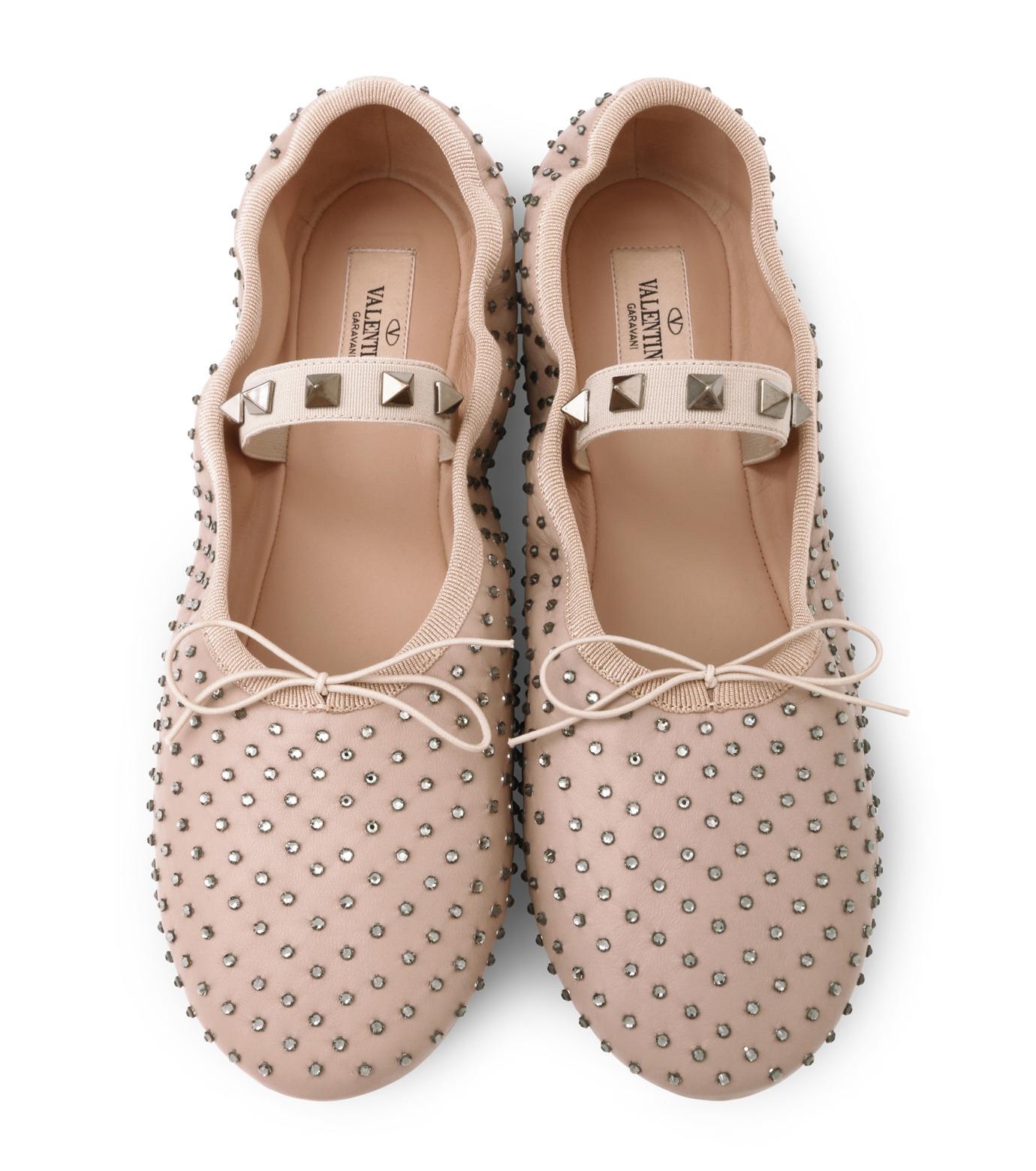VALENTINO GARAVANI(ヴァレンティノ ガラヴァーニ)のBallerina Flat Strass-BEIGE(フラットシューズ/Flat shoes)-LW0S0A93FNR-52 拡大詳細画像4