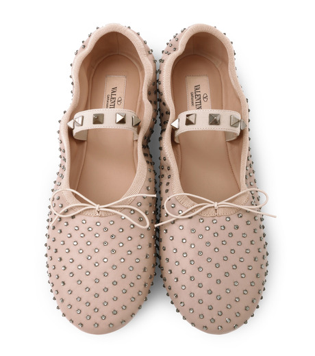 VALENTINO GARAVANI(ヴァレンティノ ガラヴァーニ)のBallerina Flat Strass-BEIGE(フラットシューズ/Flat shoes)-LW0S0A93FNR-52 詳細画像4