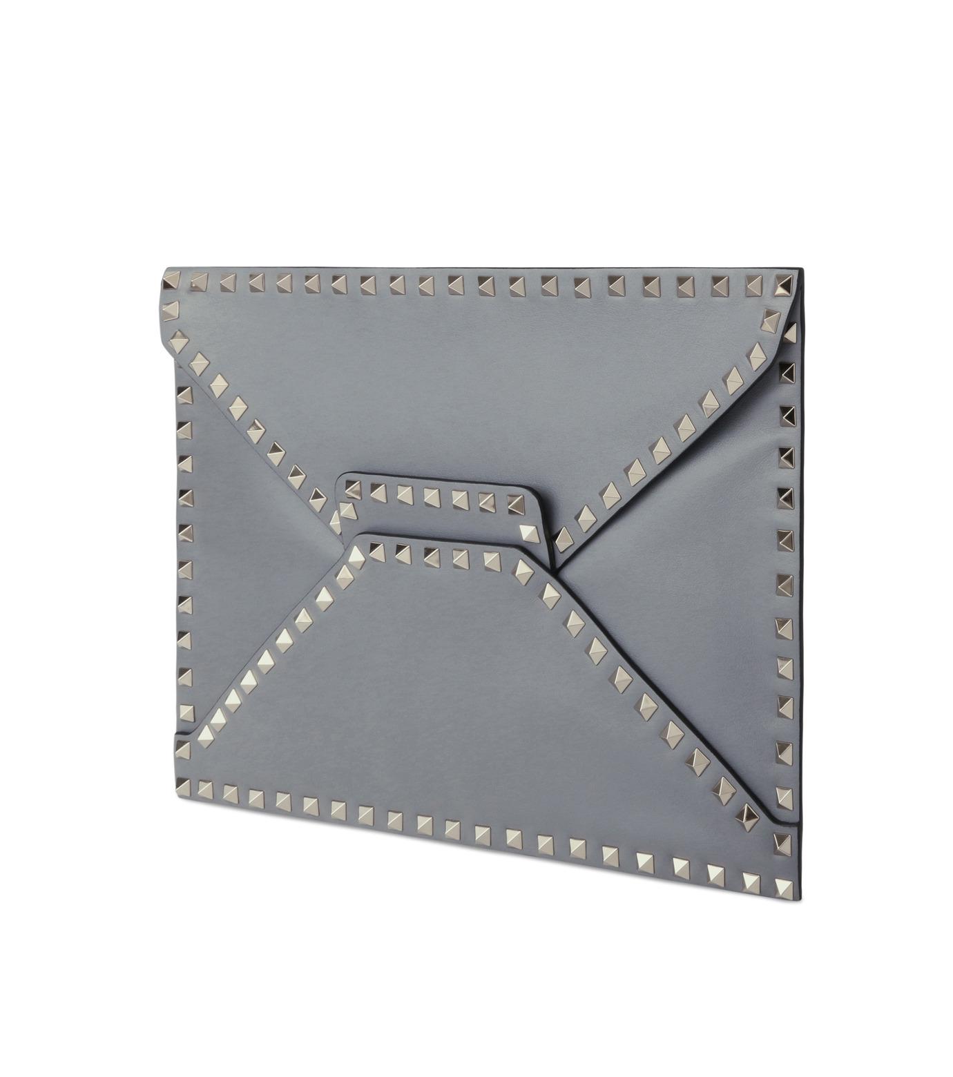 VALENTINO GARAVANI(ヴァレンティノ ガラヴァーニ)のRockstuds Envelop Clutch-GRAY(クラッチバッグ/clutch bag)-LW2B0100BOL-11 拡大詳細画像2