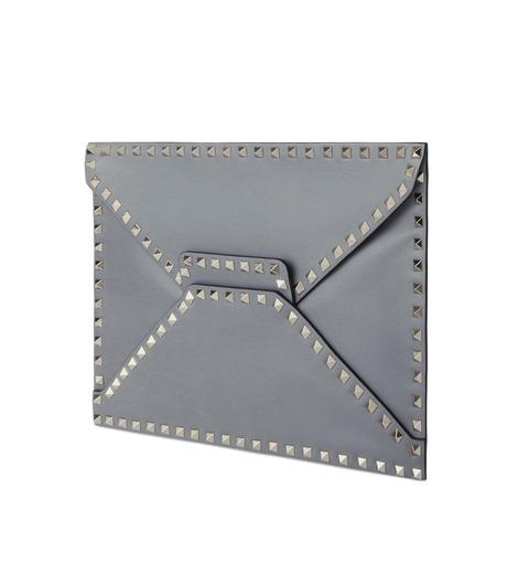 VALENTINO GARAVANI(ヴァレンティノ ガラヴァーニ)のRockstuds Envelop Clutch-GRAY(クラッチバッグ/clutch bag)-LW2B0100BOL-11 詳細画像2