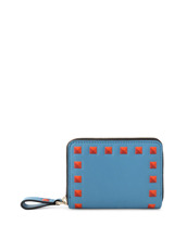 VALENTINO GARAVANI(ヴァレンティノ ガラヴァーニ) Small Roundzip Wallet Emboss Studs