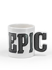 Mustard Word shaped ceramic mug-EPIC-