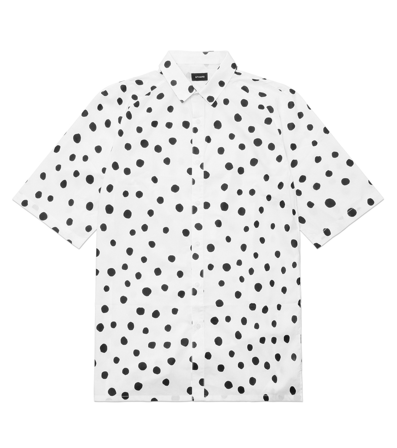 STAMPD(スタンプド)のLarge Polka Button Down-WHITE(T-SHIRTS/T-SHIRTS)-M608BD-WHT-4 拡大詳細画像1
