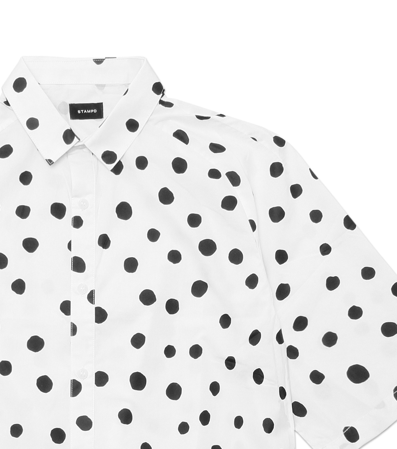 STAMPD(スタンプド)のLarge Polka Button Down-WHITE(T-SHIRTS/T-SHIRTS)-M608BD-WHT-4 拡大詳細画像2