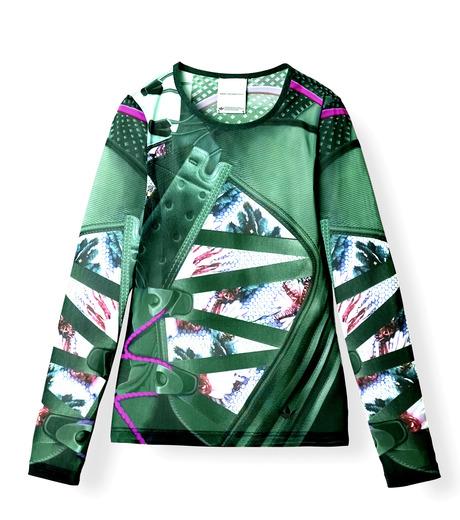 Adidas x Mary Katrantzou(アディダス メアリー・カトランズ)のMesh Fitted Tee-KHAKI-M63056-24 詳細画像1