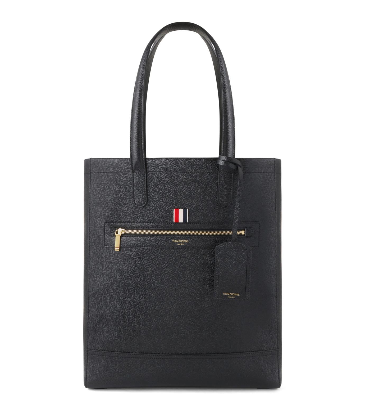 Thom Browne(トムブラウン)のLeather Tote-BLACK(ハンドバッグ/hand bag)-MAG059A00198-13 拡大詳細画像1