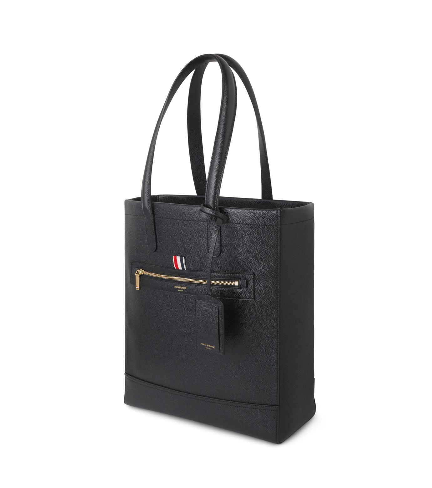 Thom Browne(トムブラウン)のLeather Tote-BLACK(ハンドバッグ/hand bag)-MAG059A00198-13 拡大詳細画像2