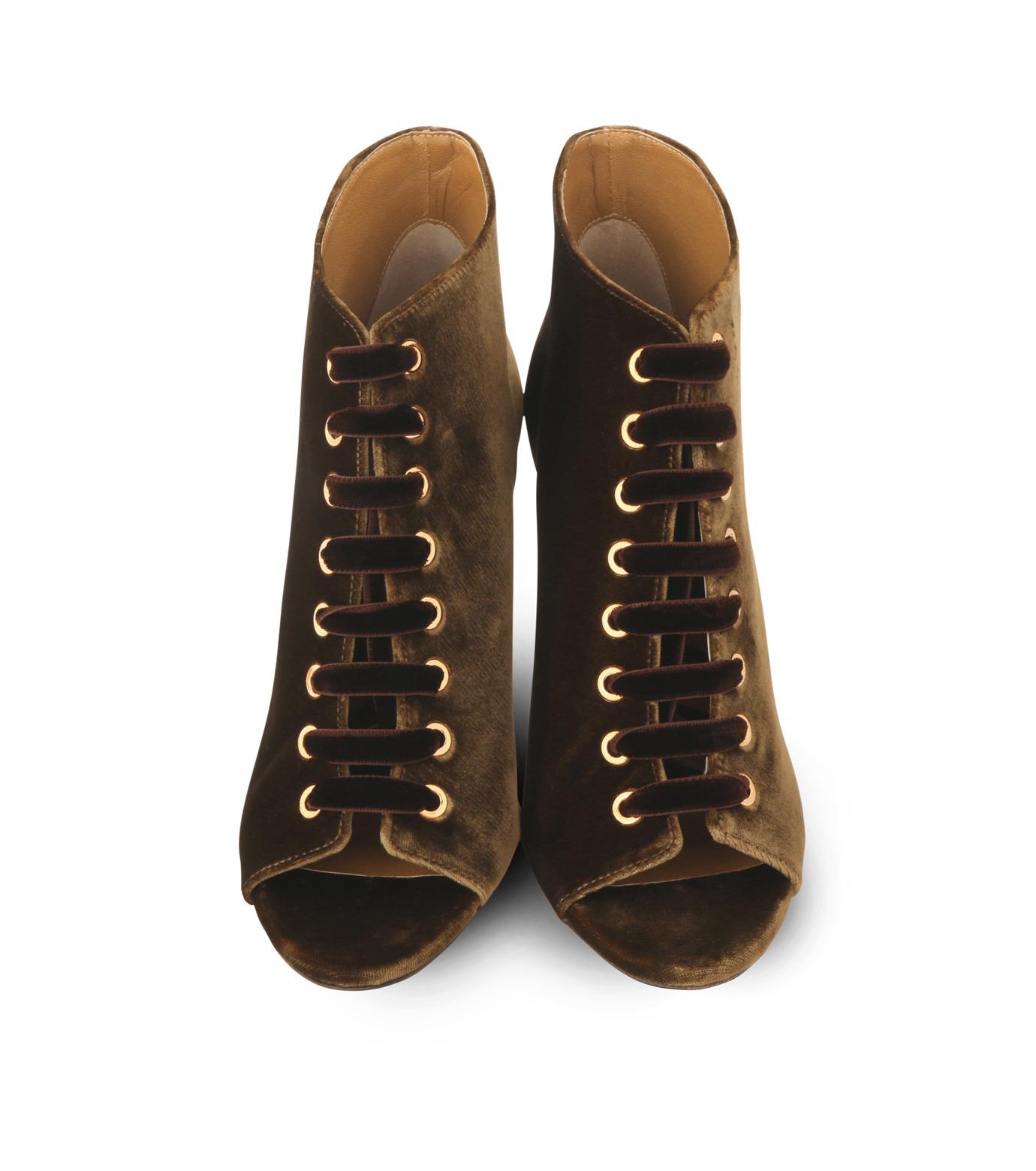 Jimmy Choo(ジミーチュウ)の162Velvet Laceup Bootie-KHAKI(ブーツ/boots)-MAVY-100-VEL-24 拡大詳細画像4