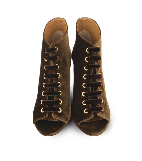 Jimmy Choo(ジミーチュウ)の162Velvet Laceup Bootie-KHAKI(ブーツ/boots)-MAVY-100-VEL-24 詳細画像4
