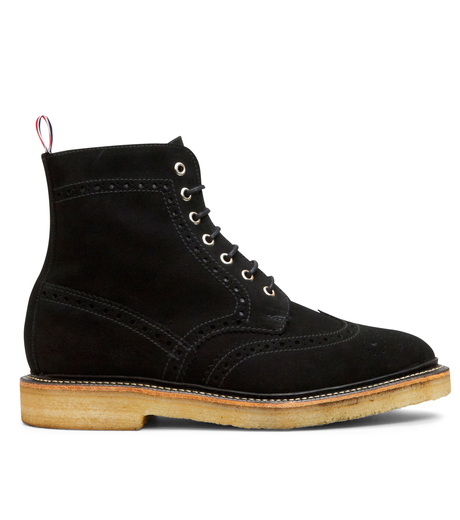 Thom Browne(トムブラウン)のSuede Boots-BLACK-MFR021-P7210 詳細画像1