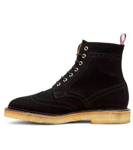 Thom Browne(トムブラウン)のSuede Boots-BLACK-MFR021-P7210 詳細画像2