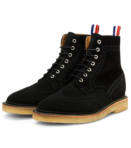 Thom Browne(トムブラウン)のSuede Boots-BLACK-MFR021-P7210 詳細画像4