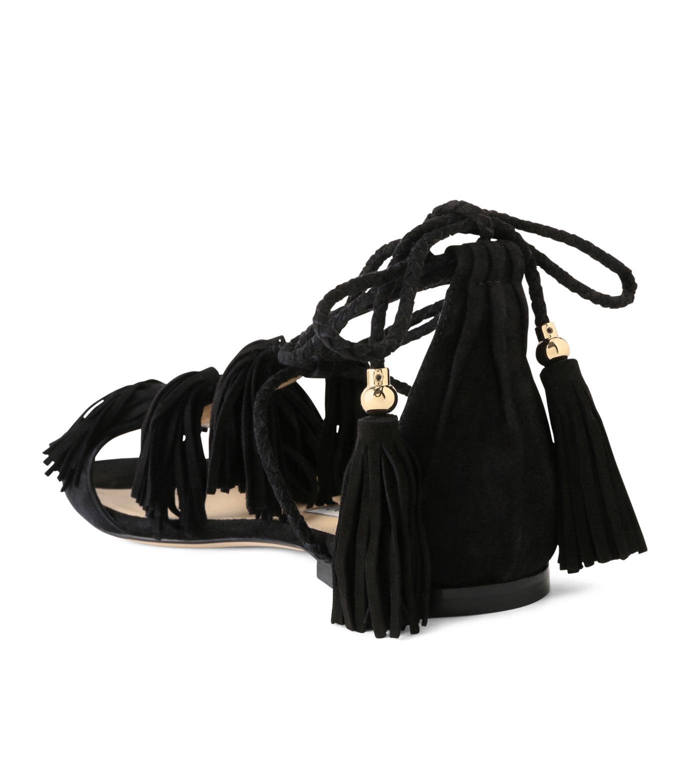 Jimmy Choo(ジミーチュウ)の153WER Suede w/Tassel Flat-BLACK(フラットシューズ/Flat shoes)-MINDY-FLAT-13 拡大詳細画像2
